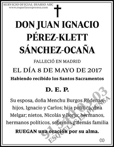 Juan Ignacio Pérez-Klett Sánchez-Ocaña